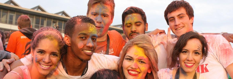 Participants at the Festival of Colours (photo by Katja Schmidt)