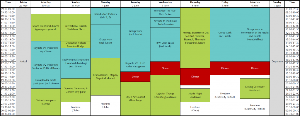 Schedule ISWI 2015 (May 2015)